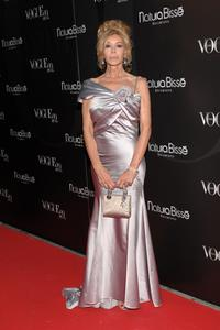 Bibi Andersen at the Vogue Magazine 20th anniversary party.