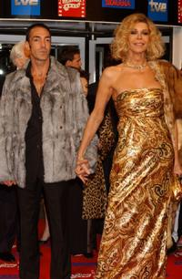 Bibi Andersen and her boyfriend at the Goya Cinema Awards 2005.