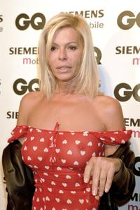 Bibi Andersen at the Spring/Summer 2001 GQ fashion show party.