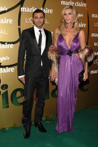 Bibi Andersen and her boyfriend at the 5th Marie Claire Magazine Awards.