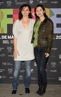 Marta Belaustegui and Eva Pallares  at the 12th Malaga Film Festival presentation party.