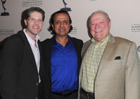 Bob Bergen, Ajay Mehta and Conrad Bachman at the 63rd Primetime Emmy Awards in California.