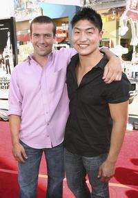 Lucas Black and Brian Tee at the premiere of