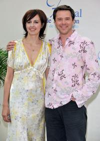 Guillaume De Tonquedec and Valerie Bonneton at the photocall of television series
