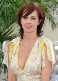 Valerie Bonneton at the photocall promoting the television series