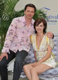Valerie Bonneton and Guillaume De Tonquedec at the photocall promoting the television series