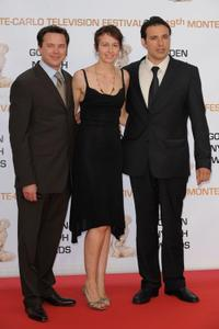 Valerie Bonneton, Bruno Salomone and Guest at the 2009 Monte Carlo Television Festival.