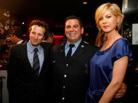 Bodhi Elfman, Andy Isolano and Jenna Elfman at the New York Rescue Workers Detoxification Project Charity Event.