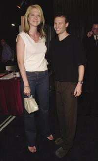 Jenna Elfman and Bodhi Elfman at the private art exhibition.