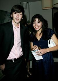 Matthew Beard and Elaine Cassidy at the private screening of