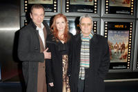 Peter Lohmeyer, Sibylle Canonica and Henry Huebchen at the premiere of