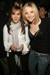 Nadia Dajani and Sarah Chalke at the after party of the screening of