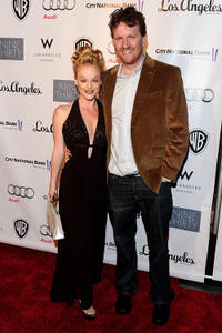 Dana Daurey and producer Gil Cates Jr. at the red carpet of Geffen Playhouse's Annual Backstage in California.