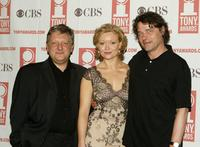 Simon Russell Beale, Essie Davis and David Leveaux at the 2004 Tony Awards Nominees Press Reception.