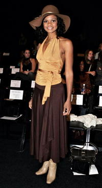 Kimberly Elise at the Kevan Hall Spring 2006 show during Mercedes-Benz Fashion Week.