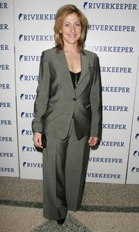 Edie Falco at the 11th annual Riverkeeper Benefit gala honoring the Hearst Corporation.