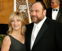 Edie Falco and James Gandolfini at the 14th annual Screen Actors Guild awards.