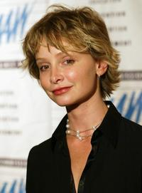 Calista Flockhart at the LACAAW Humanitarian Awards Benefit Dinner.