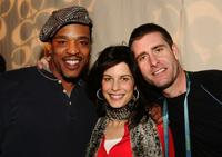 Russell Hornsby, Susan Floyd and Fitzgerald at the Gersh Agency party during the Sundance Film Festival.