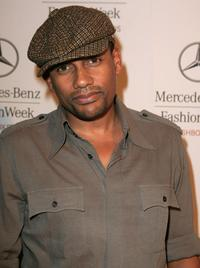 Hill Harper at the Mercedes-Benz Fashion Week.