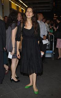 Jessica Hecht at the opening night of Pygmalion on Broadway.