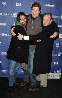 Sam Rockwell, Brad Henke and Clark Gregg at the premiere of