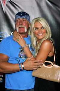 Hulk Hogan and Brooke Hogan at the MarketAmerica.com Super XLI party.