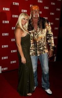 Linda Hogan and Hulk Hogan at the EMI's Post-Grammy Bash.