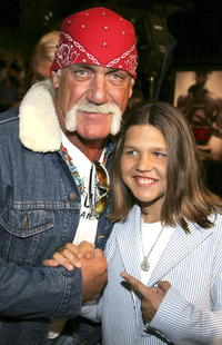Hulk Hogan and Richard Sandrak at the premiere of