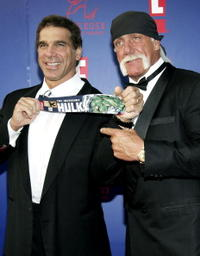 Lou Ferrigno and Hulk Hogan at the 5th Annual Taurus World Stunt Awards.