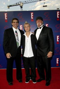 Lou Ferrigno, Nick Hogan and Hulk Hogan at the 5th Annual Taurus World Stunt Awards.
