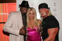 Dennis Rodman, Brooke Hogan and Hulk Hogan at the release party for Brooke's new album