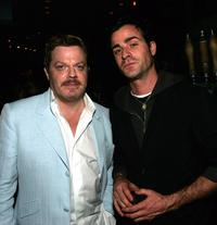 Eddie Izzard and Justin Theroux at the Tribeca Film Festival Founder's Party.