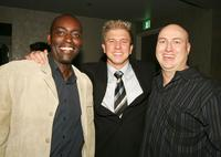 Michael Jace, Kenny Johnson and Producer Shawn Ryan at the 4th season premiere screening of