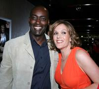 Michael Jace and Catherine Dent at the 4th season premiere screening of