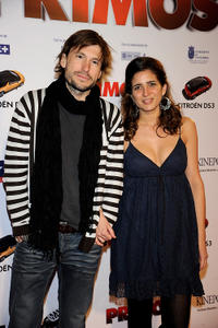 Benito Sagredo and Lucia Jimenez at the Spain premiere of