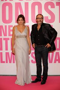Lucia Jimenez and Fernando Guillen Cuervo at the 56th San Sebastian International Film Festival Opening Ceremony.