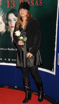 Lucia Jimenez at the premiere of