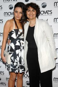 Mila Kunis and Mamoonah Yaqub at the New York Moves Art and Design Issue launch party.