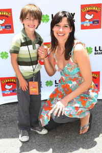 Brooke Langton and her son at the Second Annual Kidstock Music and Art Festival.