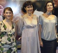 Yeelem Jappain, Anne Le Ny and Emmanuelle Devos at the screening of