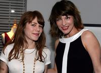 Jenny Lewis and Milla Jovovich at the presentation of Jovovich-Hawk For MNG Collection.