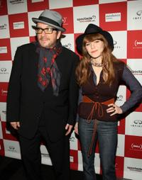 Elvis Costello and Jenny Lewisa at the Sundance Channel's debut of