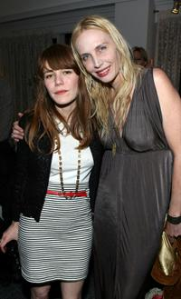 Jenny Lewis and Carmen Hawk at the presentation of Jovovich-Hawk For MNG Collection.
