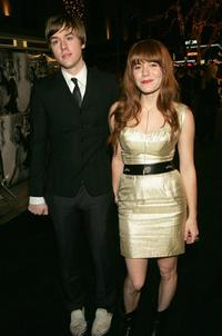 Jonathan Rice and Jenny Lewis at the premiere of