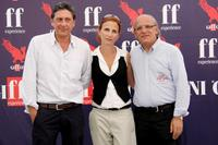 Sergio Castellitto, Margaret Mazzantini and Claudio Gubitosi at the 2009 Giffoni Experience.