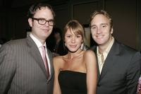 Rainn Wilson, Nikki Cox and Jay Mohr at the NBC TCA Party.