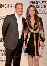 Jay Mohr and Paula Marshall at the 35th Annual People's Choice Awards nominations.