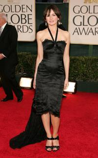 Emily Mortimer at the 63rd Annual Golden Globe Awards.