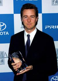 Edward Norton at the Environmental Media Awards.